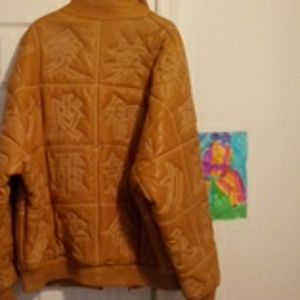 Leather mens jacket great condition